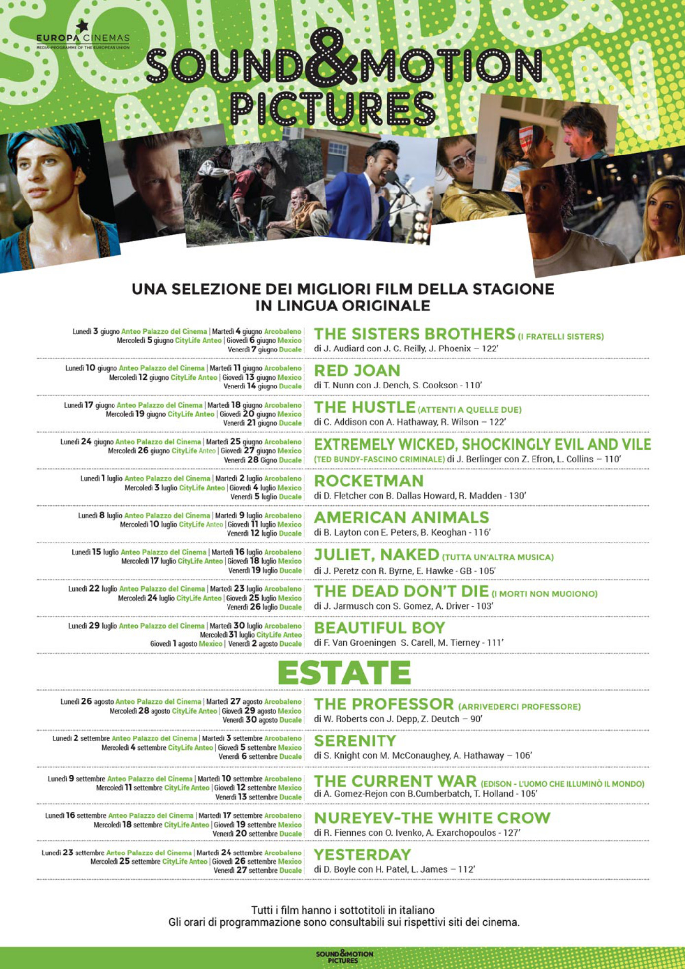 Sound & Motion Pictures giu-set 2019 | Cinema Arcobaleno e Ducale ...